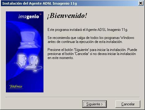 Instalación del Agente ADSL