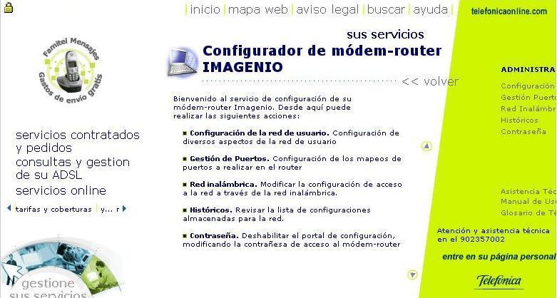 Menú Principal Portal Alejandra