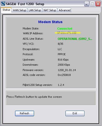 Actualizar el firmware del módem router Sagem