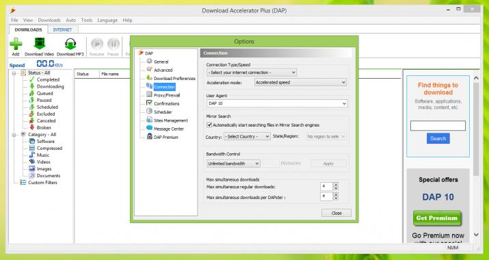 Download Accelerator Plus DAP configuracion 2014 foto 7