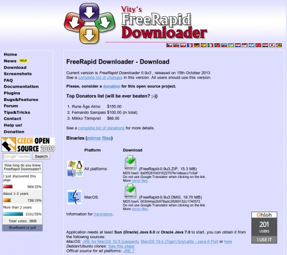 FreeRapid Downloader descargar instalar 2014 foto 1