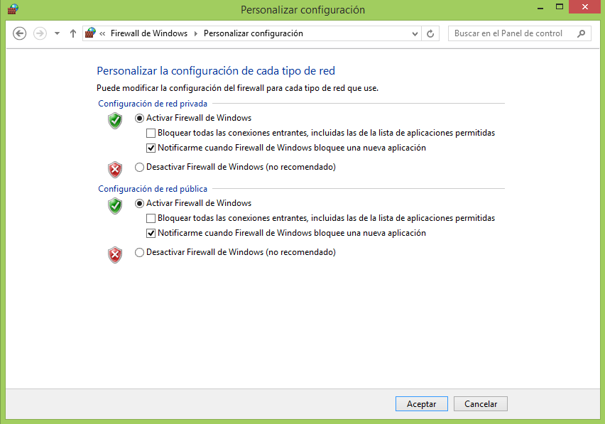 how to open firewall in windows 8