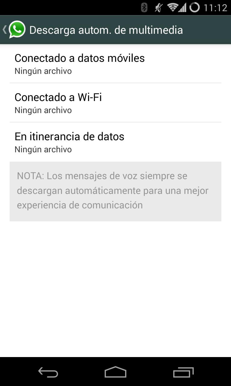 whatsapp no descargar fotos automaticamente android