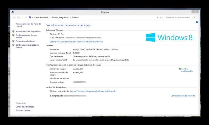 C mo activar desactivar el escritorio remoto de windows 8 for Conexion escritorio remoto windows 8