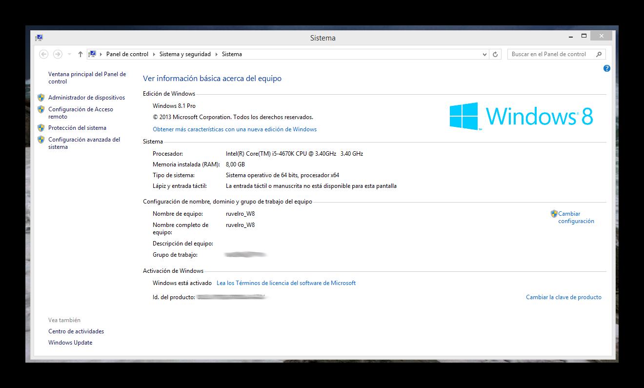 C mo activar desactivar el escritorio remoto de windows 8 - Activar escritorio remoto windows xp ...