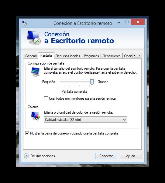C mo utilizar el cliente de escritorio remoto de windows 8 1 for Conexion escritorio remoto windows 8
