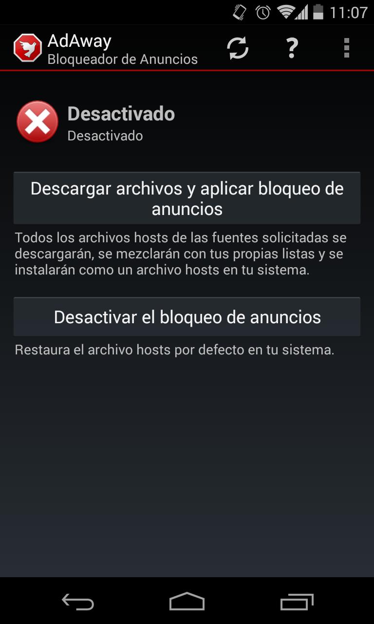 Bloquea la publicidad de las apps de Android con AdAway