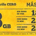 La guerra de precios no para: MásMóvil rebaja su tarifa Cero con 3 gigas