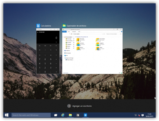 Windows 10 virtual desktops photo 2