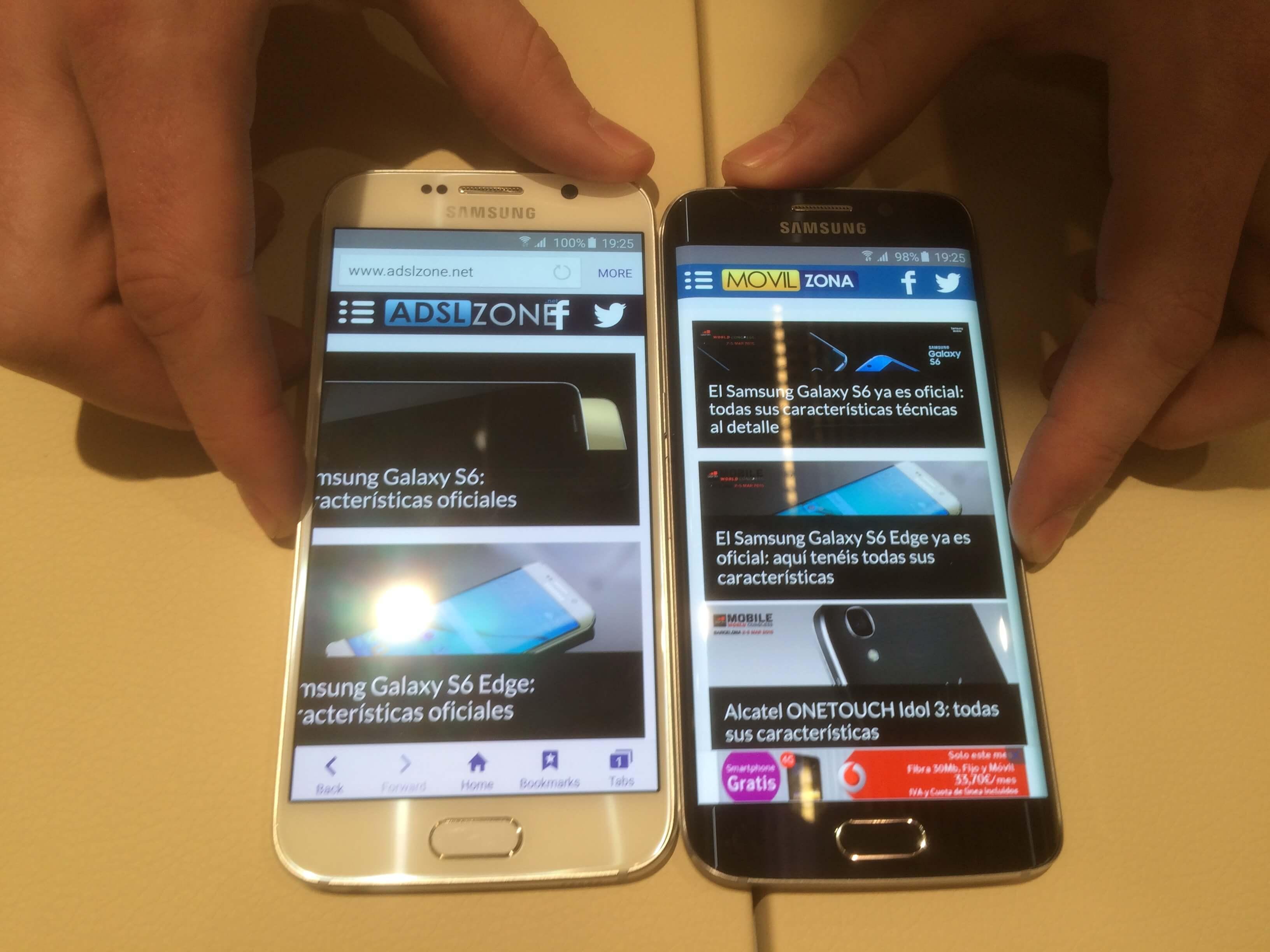 37549287917 Comparativa: Samsung Galaxy S6 y Galaxy S6 Edge vs iPhone 6 y iPhone ...