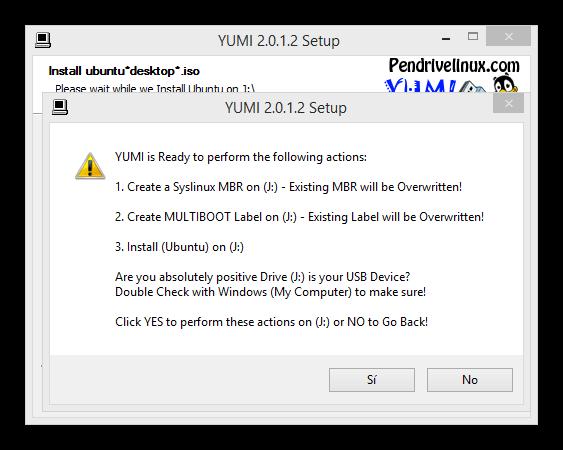 Yumi copiar varias distribuciones linux memoria usb foto 4