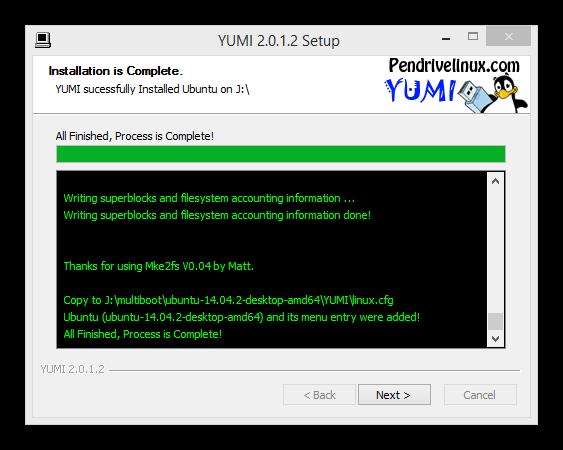 Yumi copiar varias distribuciones linux memoria usb foto 6