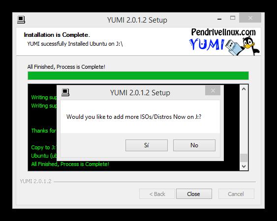 Yumi copiar varias distribuciones linux memoria usb foto 7