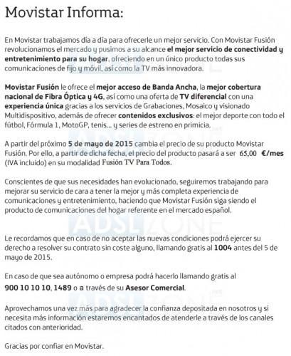 [HILO OFICIAL] Movistar Fusión cambio en las condiciones de contrato: Posibles BAJAS inside