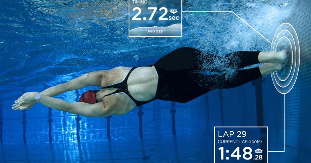 wearable pulsera reloj deporte acuático