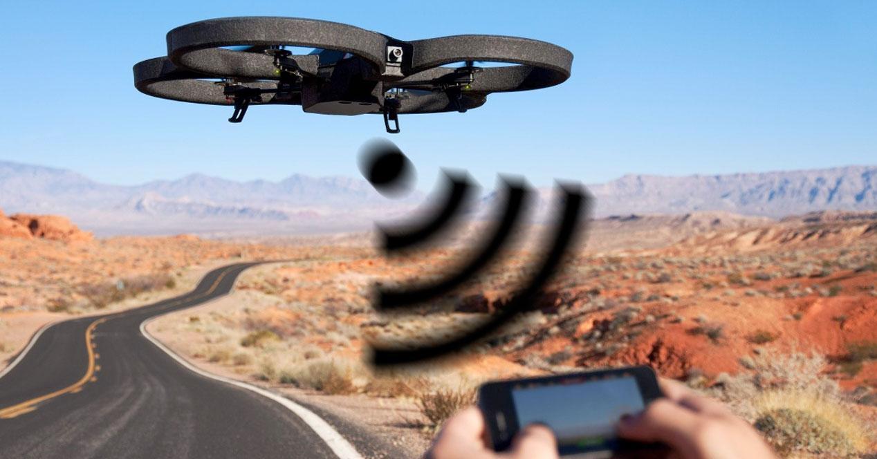 Drone WiFi espia malware