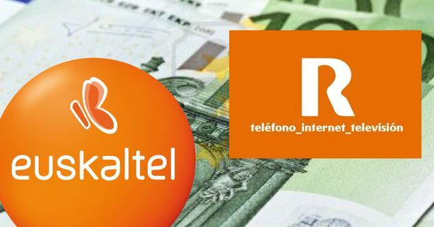 Euskaltel y R sobre fondo de euros