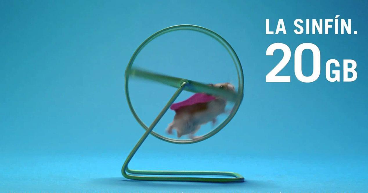 yoigo tarifa móvil sinfín 20GB