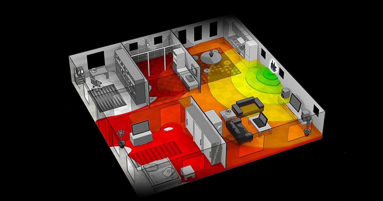 mapa calidad señal Wi-Fi casa