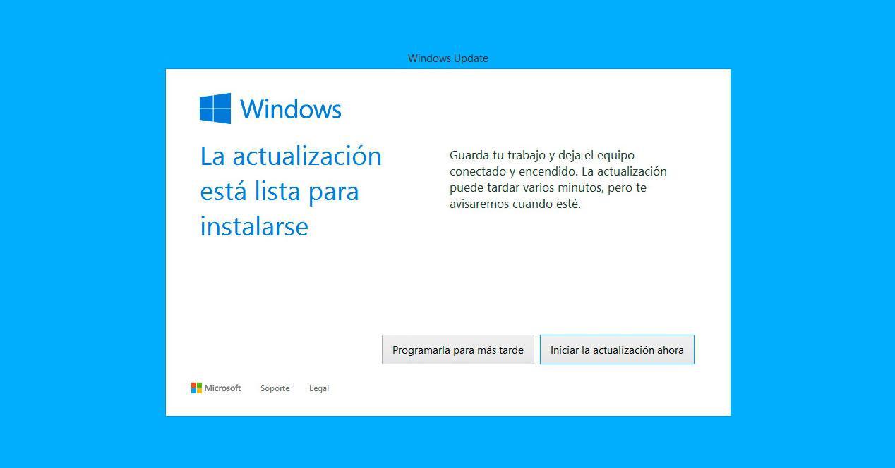 windows 10 actualización lista