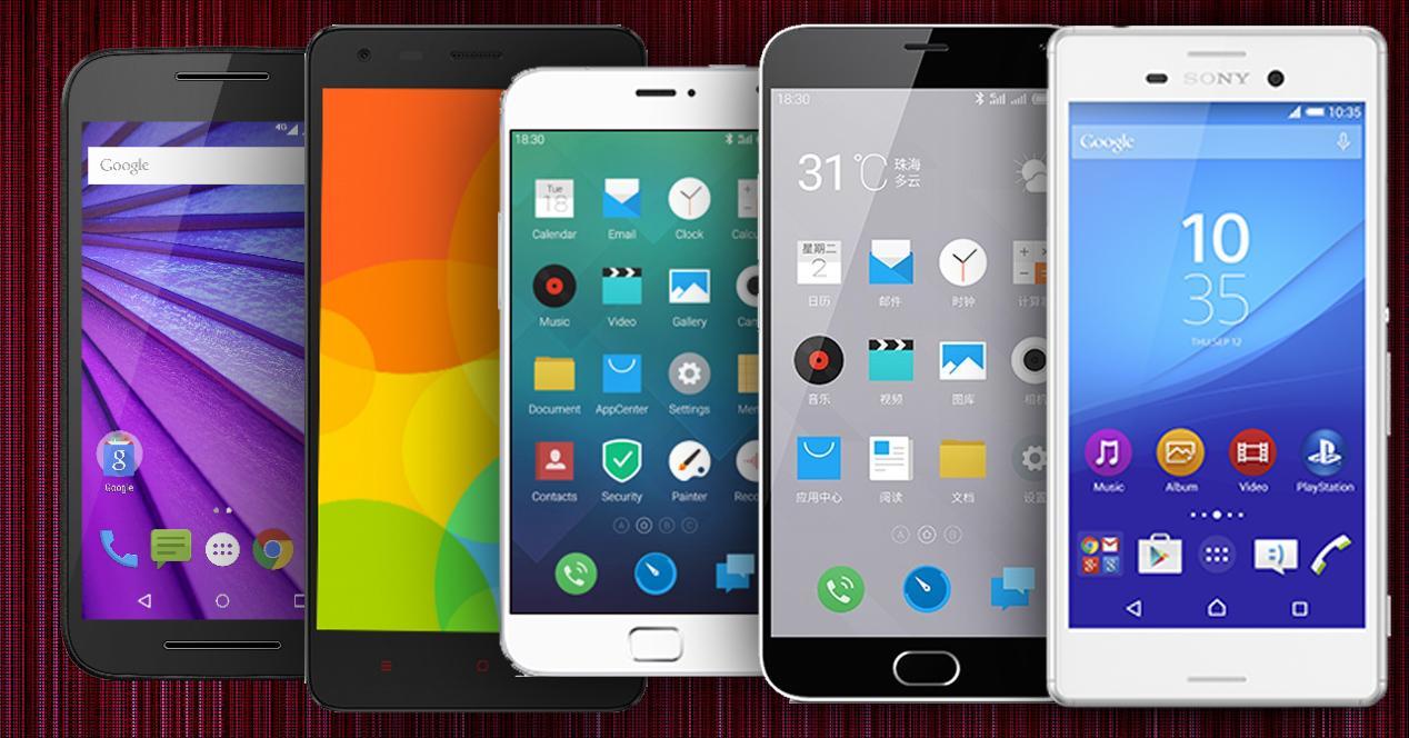 5 móviles Android por menos de 250 euros.