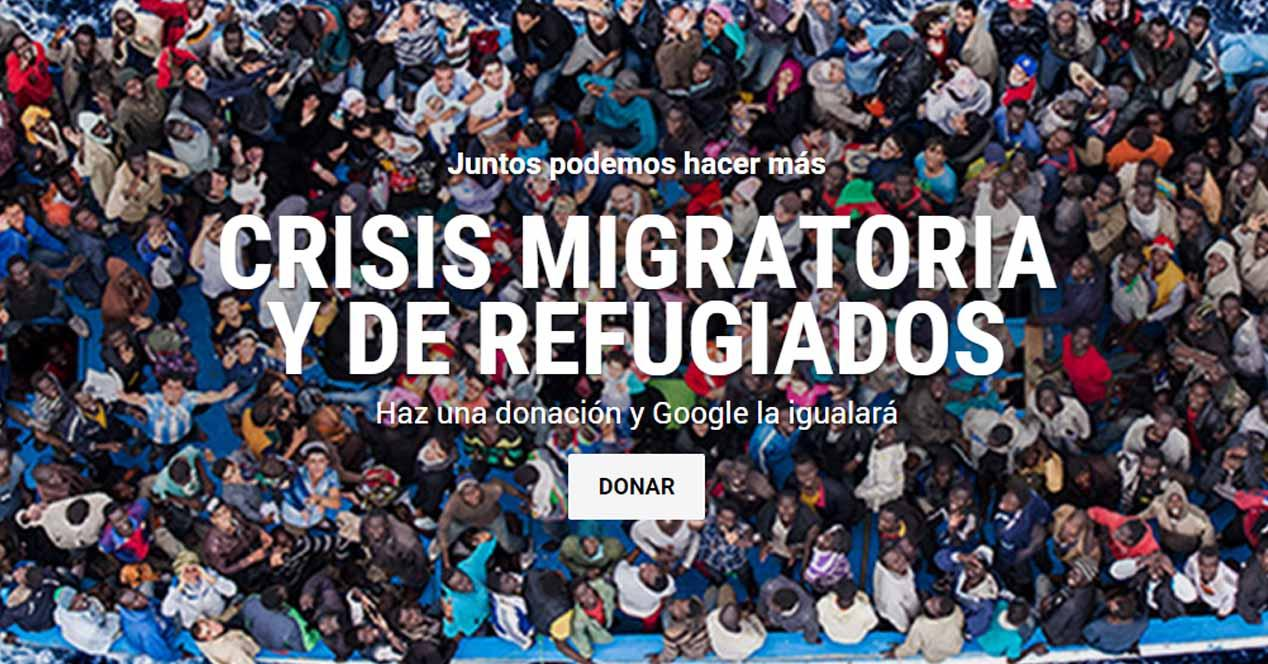 google donaciones siria