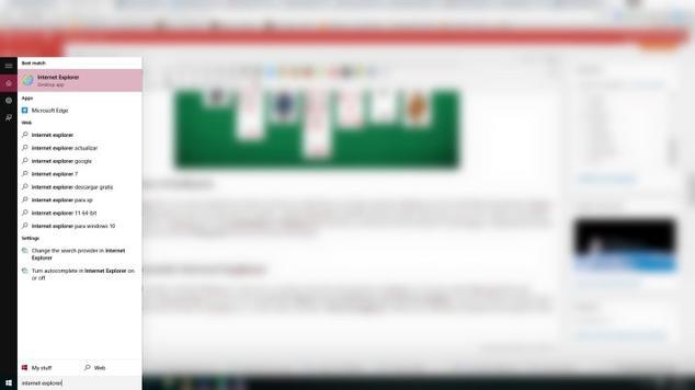 internet explorer windows 10