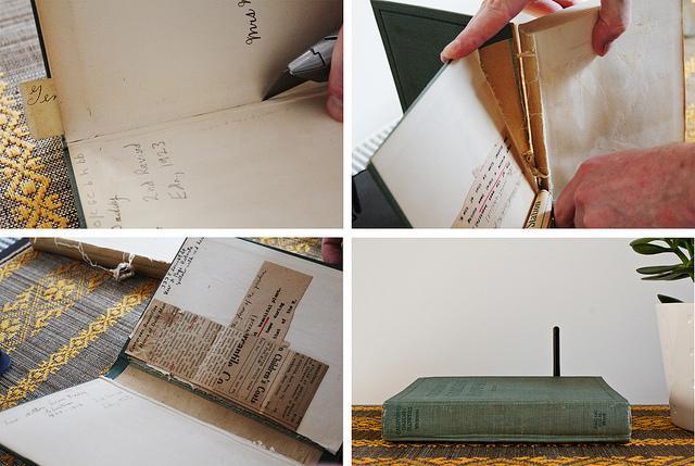 Las formas m s originales de esconder y ocultar el router - Libros antiguos para decoracion ...