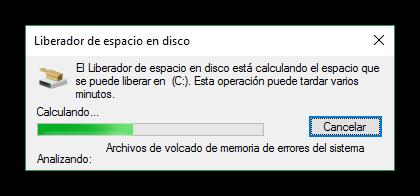 Calculando los datos que podemos eliminar del disco duro