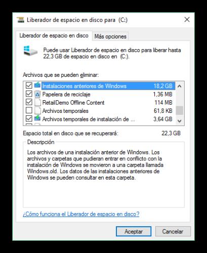 Eliminar todos los datos de instalación de Windows 10