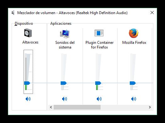 Windows 10 - Mezclador de volumen