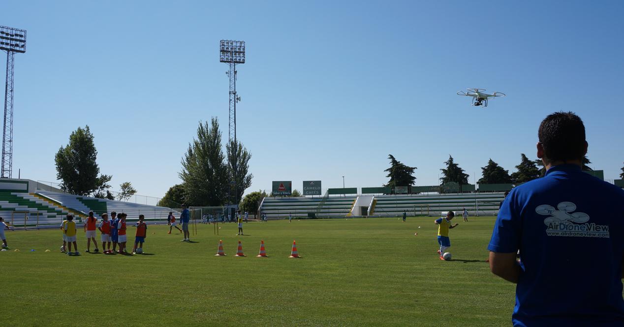 dron futbol