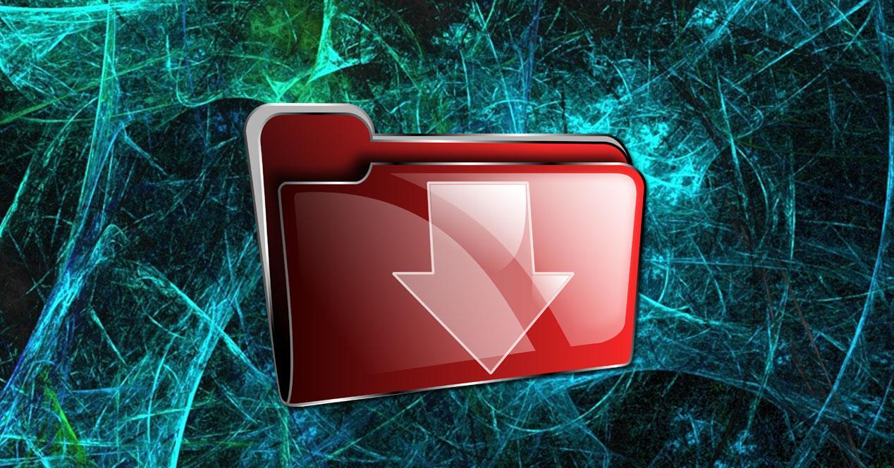 virus descarga archivos carpeta