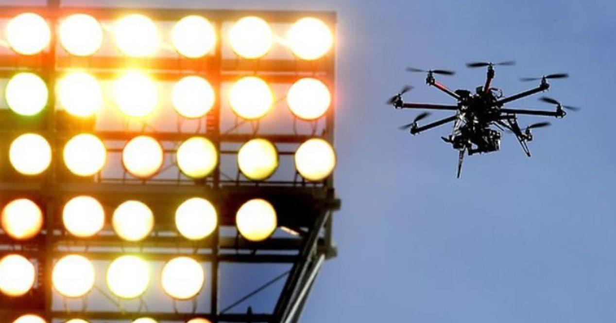 drones volando carceles focos
