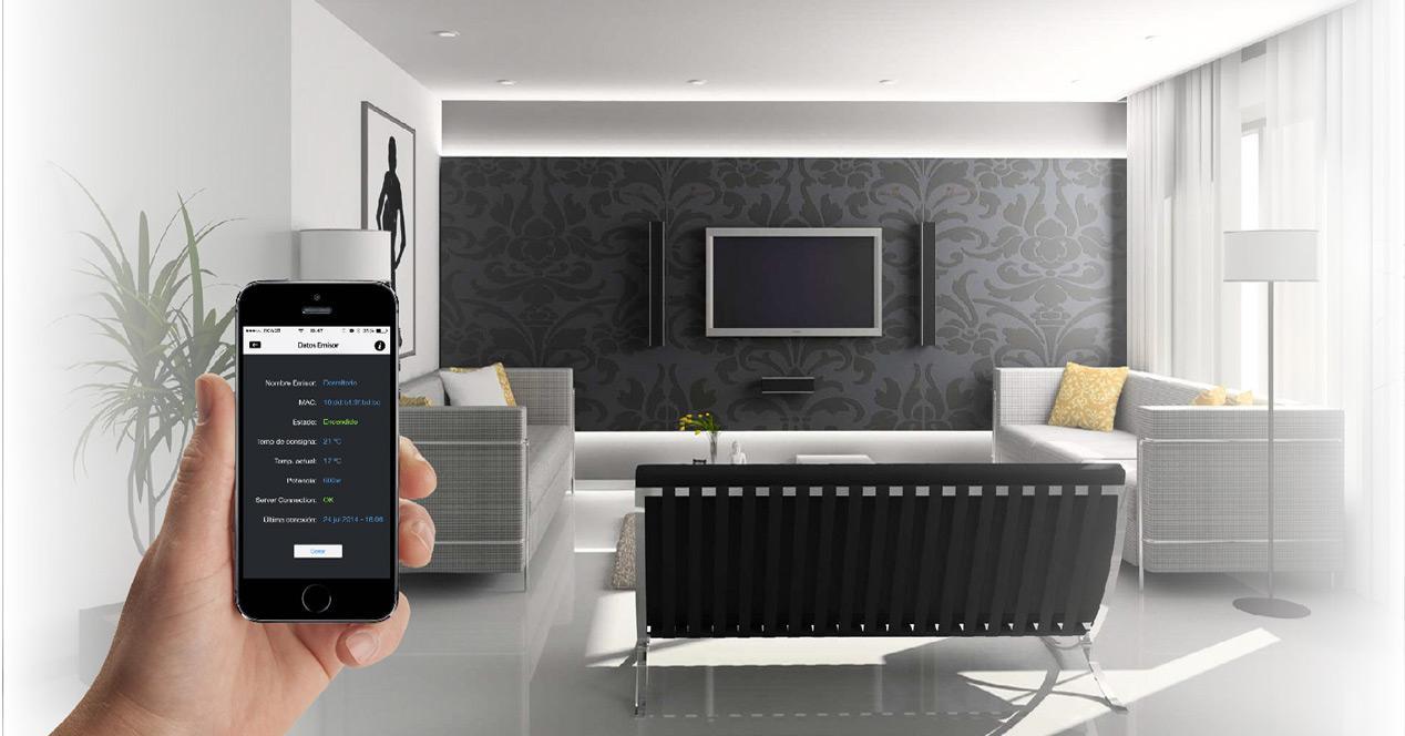 muestra de hogar inteligente