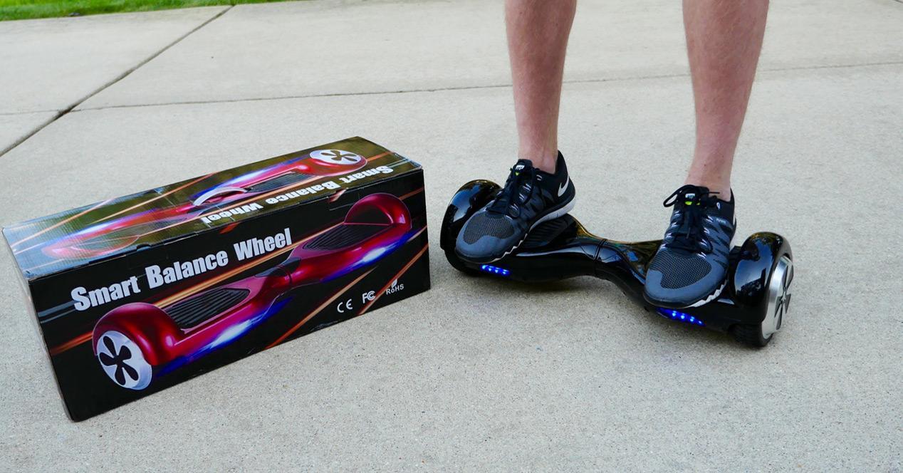 hoverboard con caja