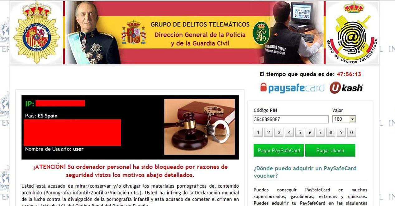 virus policia web pago rescate
