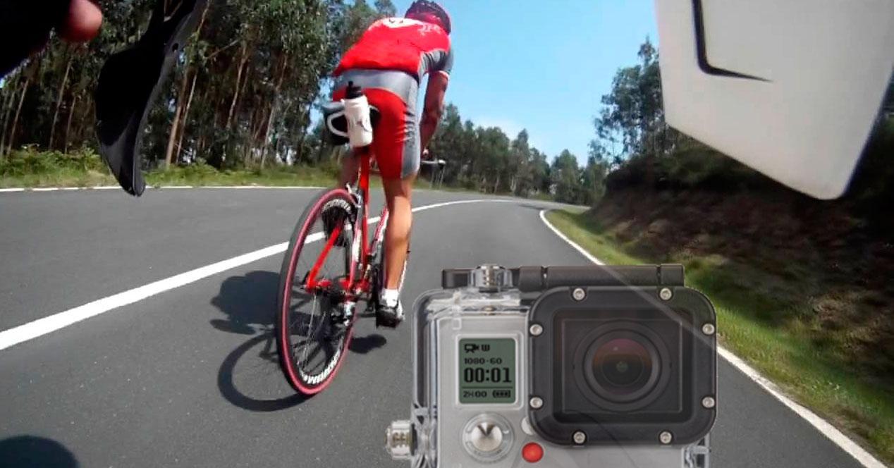 Uso cámaras de acción ciclistas
