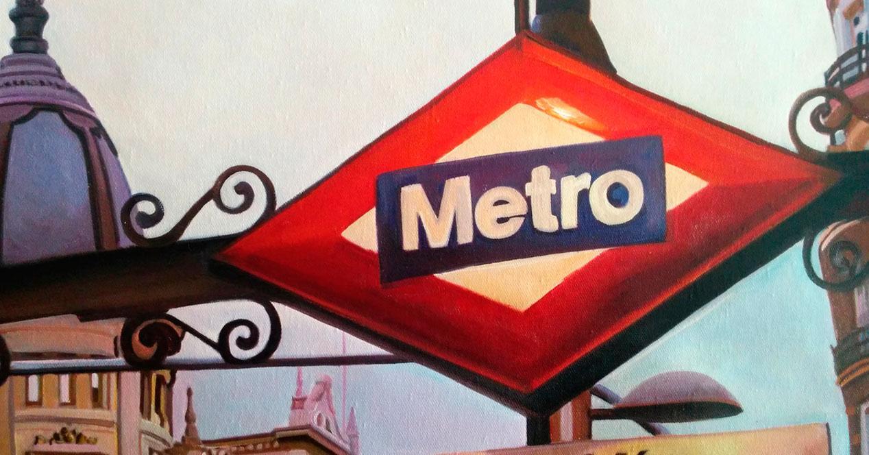 cartel metro Madrid