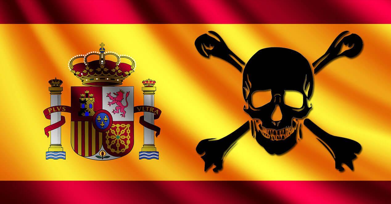 bandera españa pirata