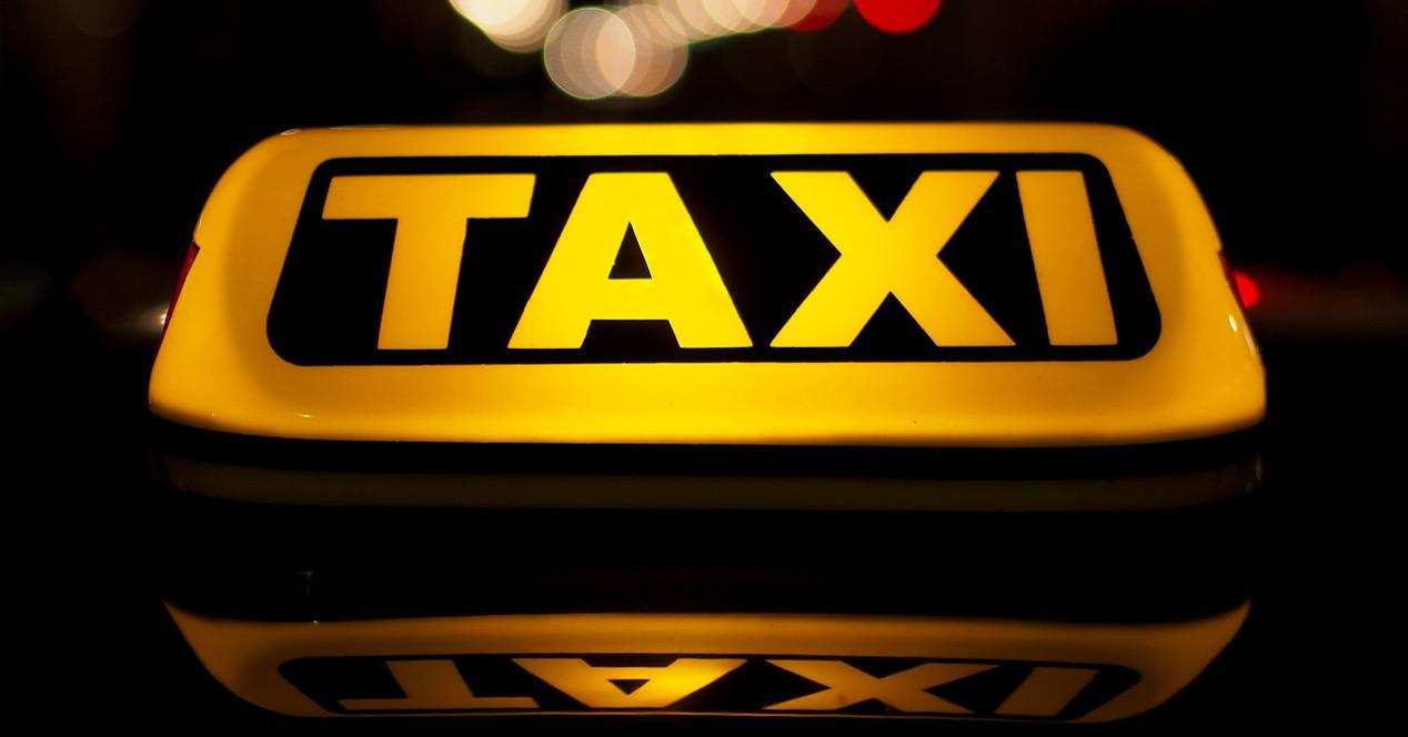 letrero de taxis
