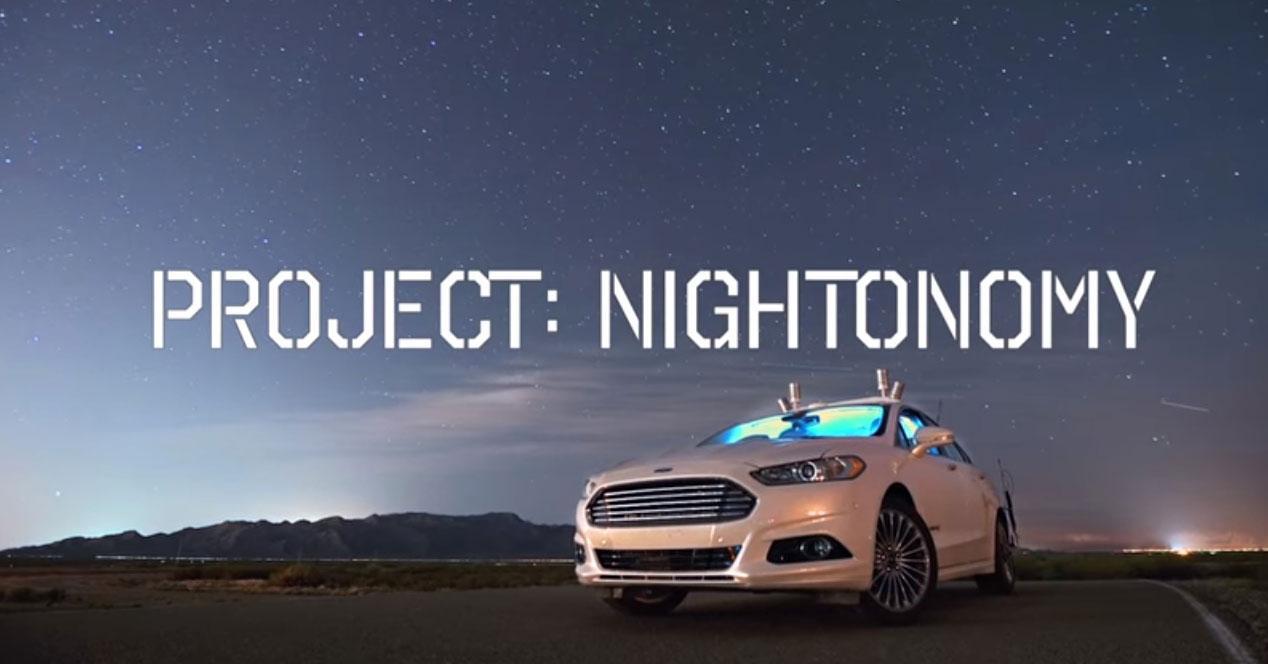 coche autonomo sin luces