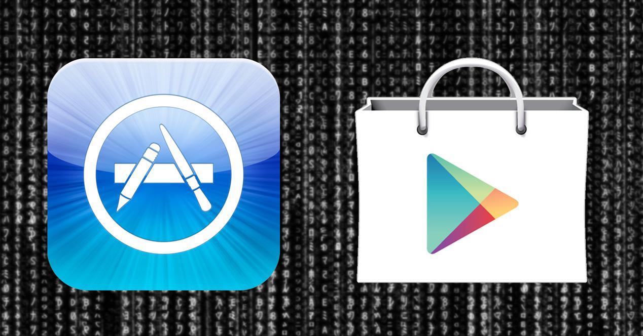 logos tiendas app ios y android