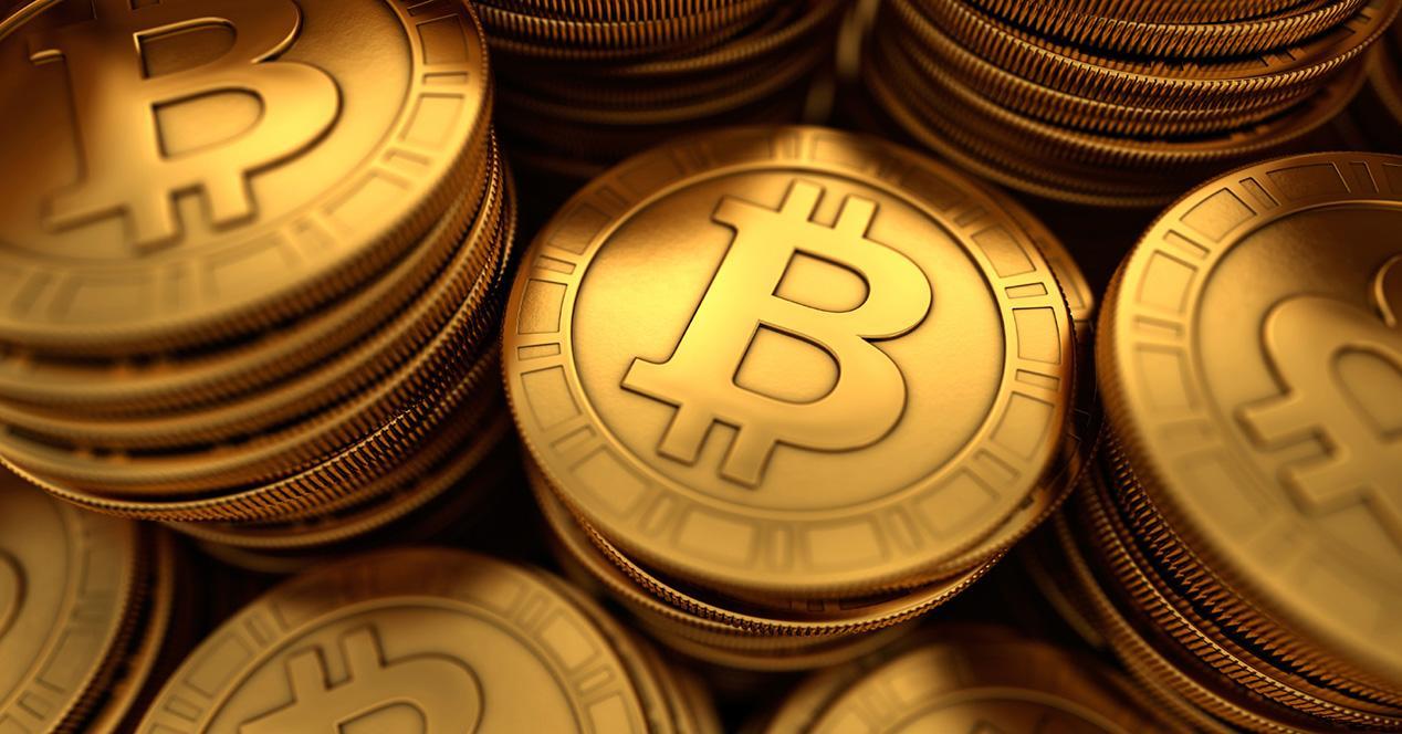 monedas con logo bitcoin