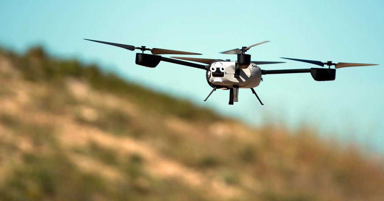 drone asustado