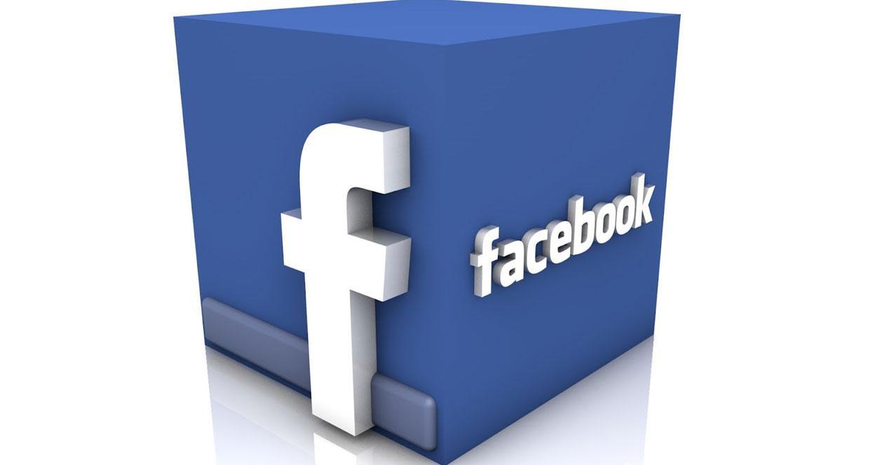 Logo de Facebook en un cubo