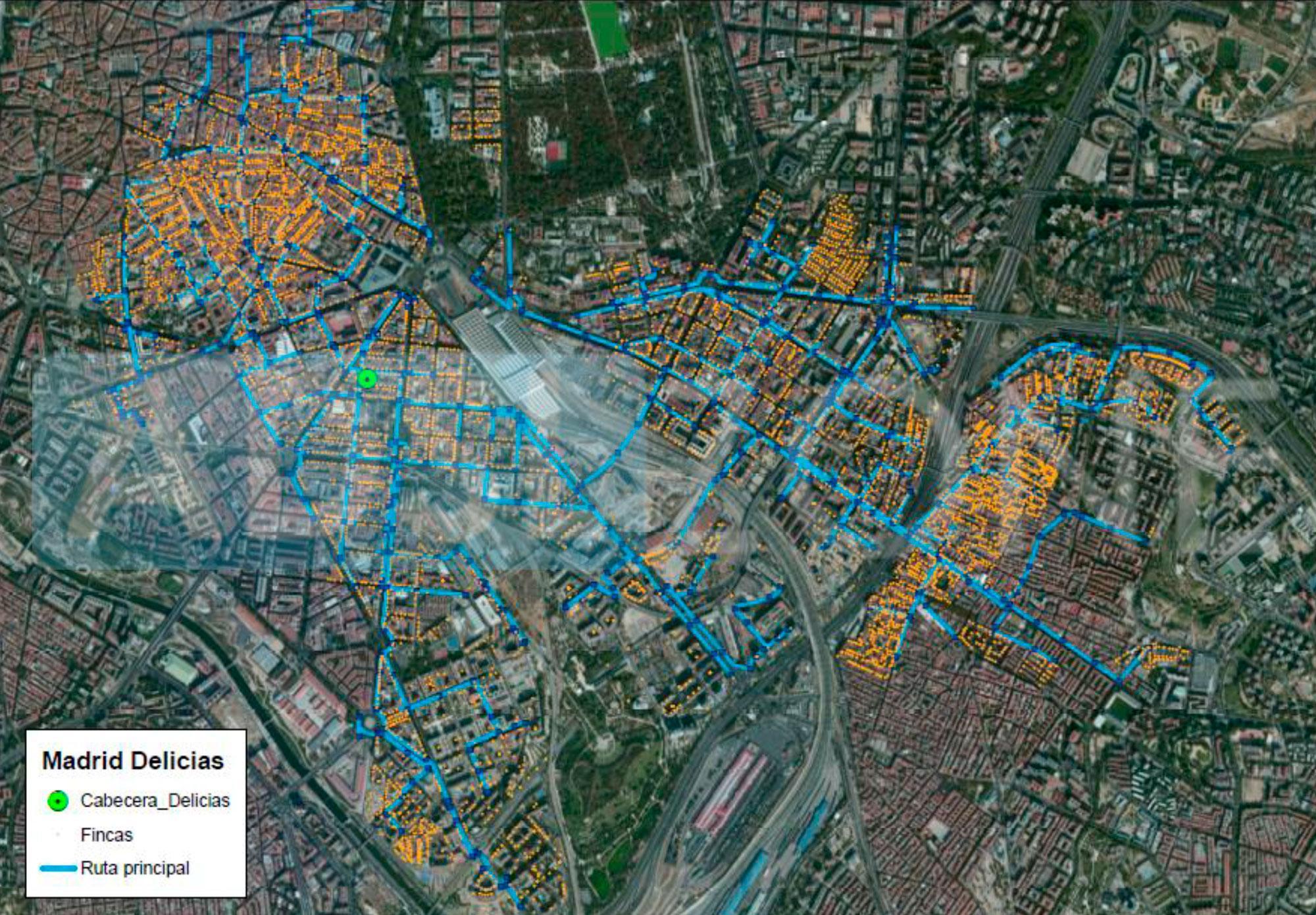Mapa de cobertura de fibra ptica de MsMvil por ciudades y barrios
