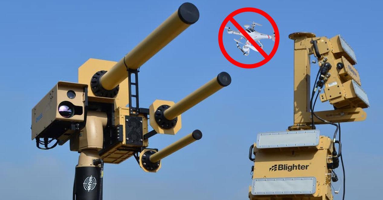 drone aeropuerto deshabilitar