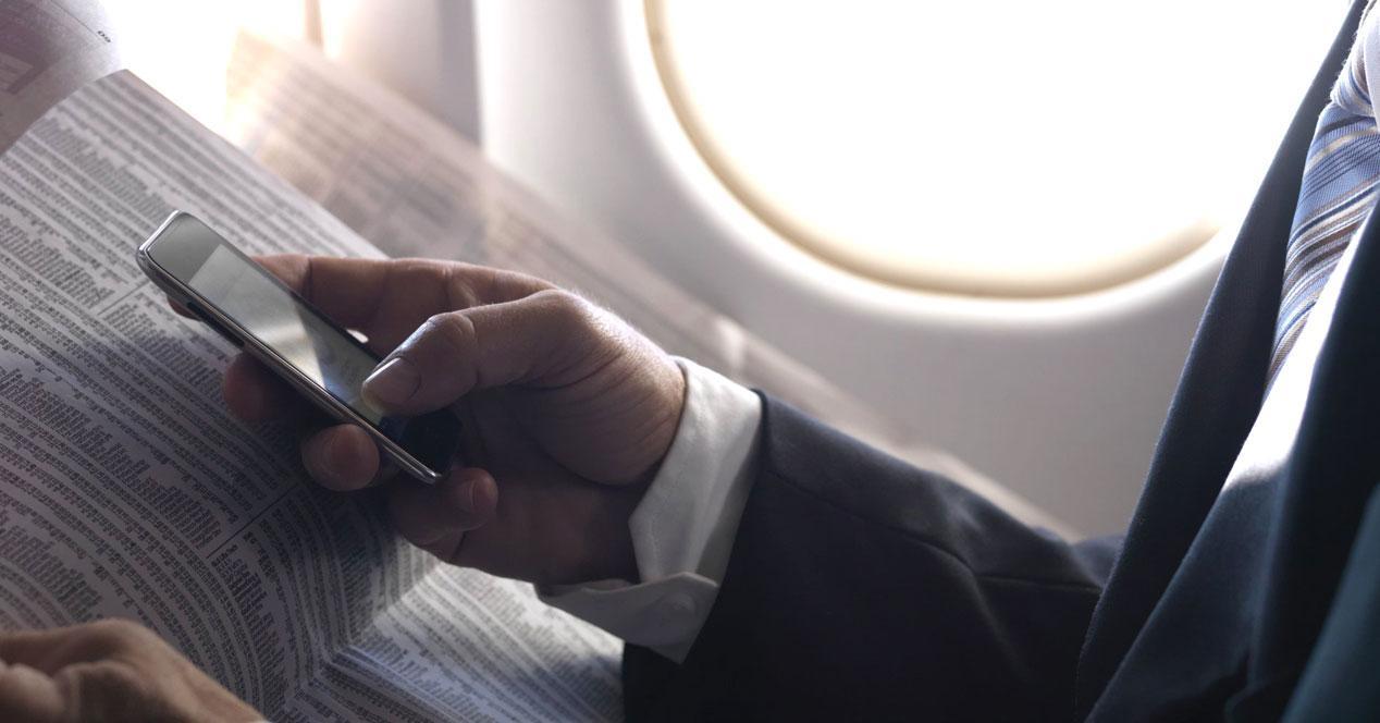 Uso del modo avión en los moviles