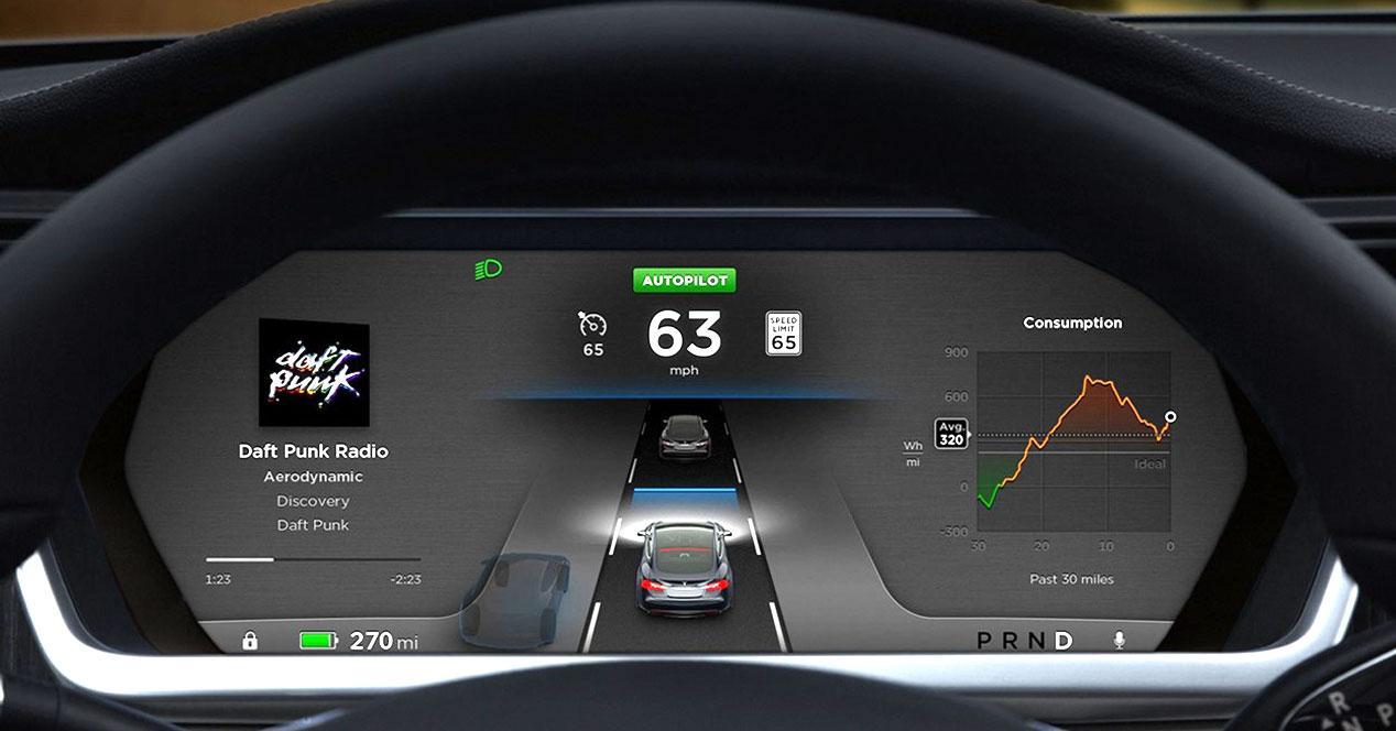 Cuadro de mandos Tesla